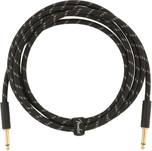 Fender Deluxe Series 10ft Straight Cable Black Tweed - Regent Sounds