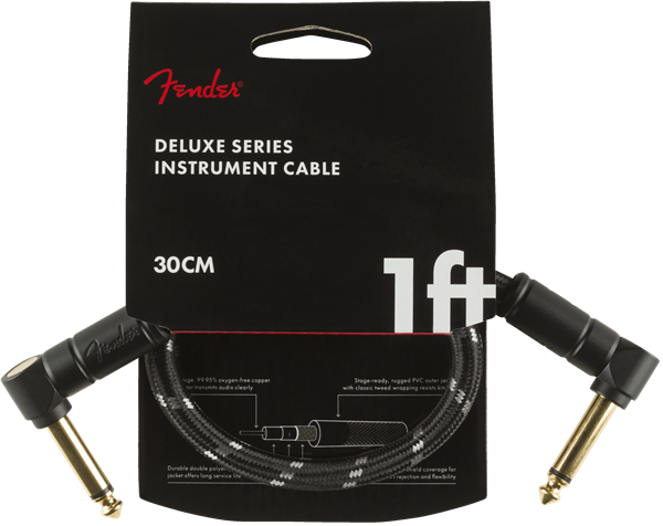 Fender Deluxe Series 1' Cable Black Tweed - Regent Sounds