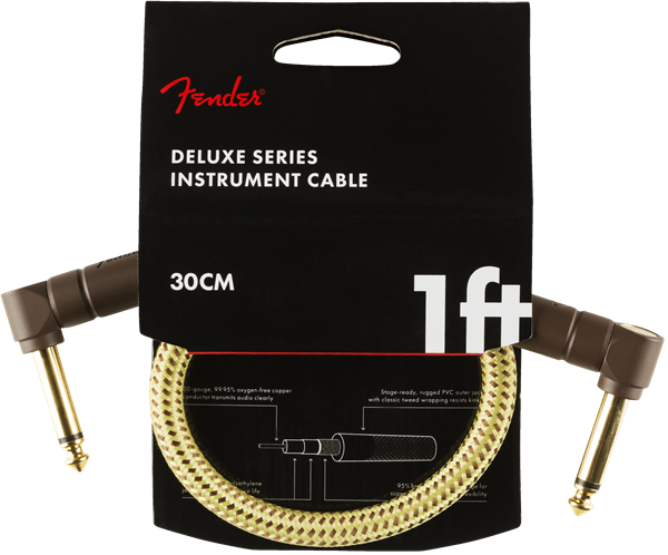 Fender Deluxe Series 1' Cable Angled Tweed - Regent Sounds