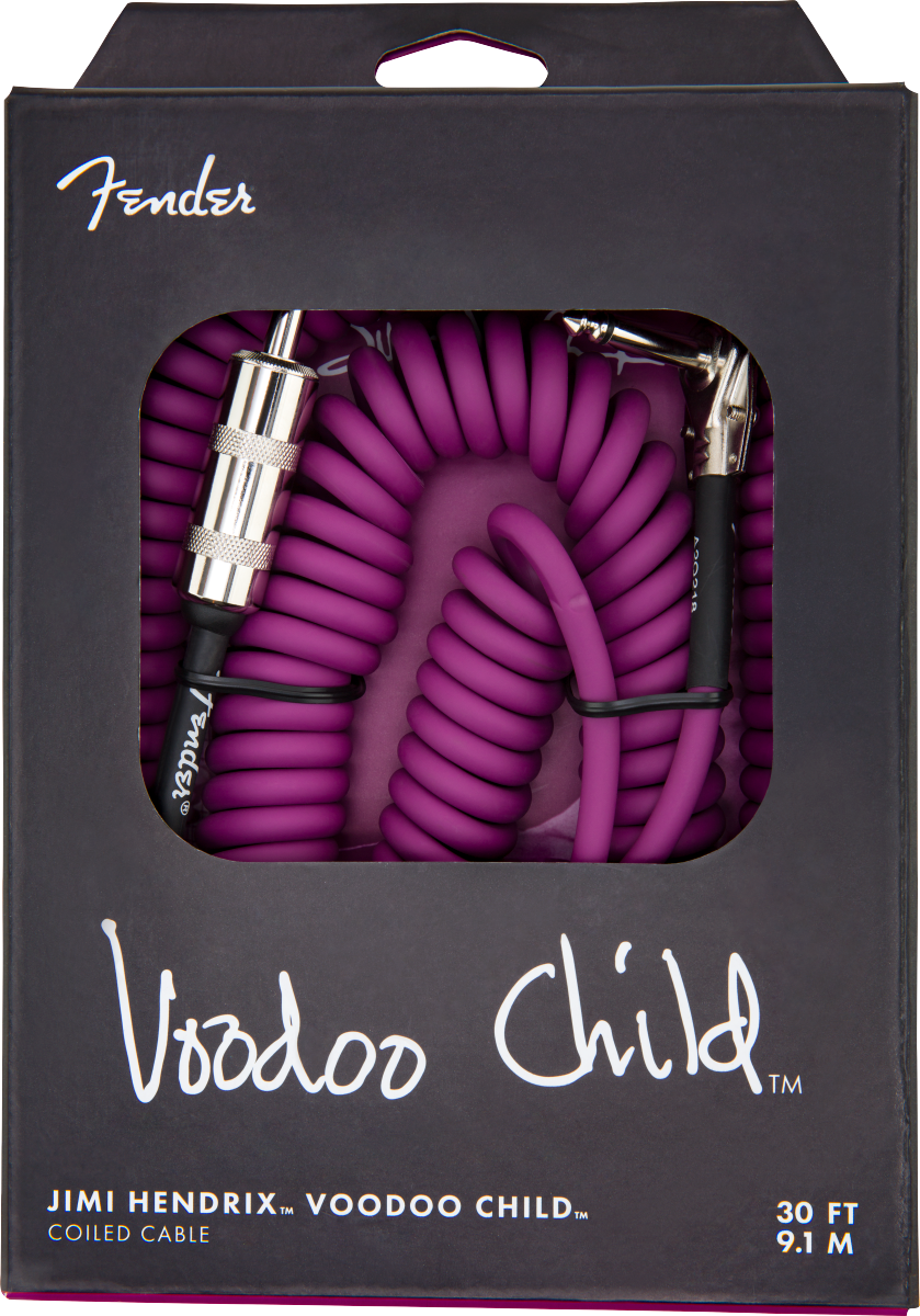 Fender Jimi Hendrix Voodoo Child Cable Purple 30' - Regent Sounds