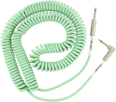 Fender Original Series Coil Cable Angle 30' Surf Green