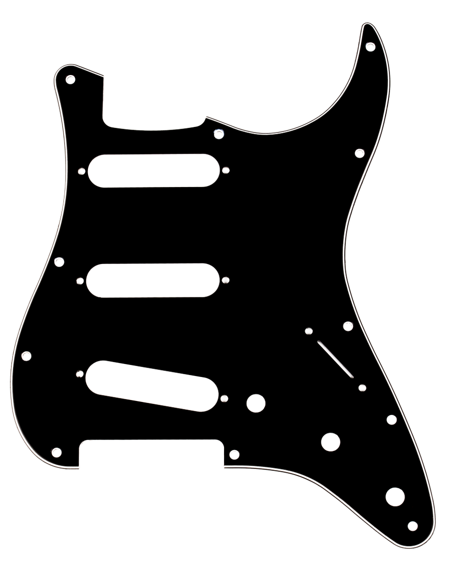 Fender 11-Hole Stratocaster S/S/S Black 3-Ply Pickguard - Regent Sounds