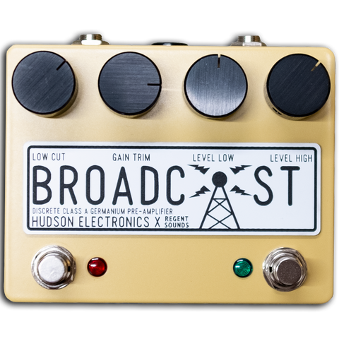 Hudson Electronics x Regent Sounds Broadcast Dual F/Switch Ltd Ed Sand Yellow - Regent Sounds