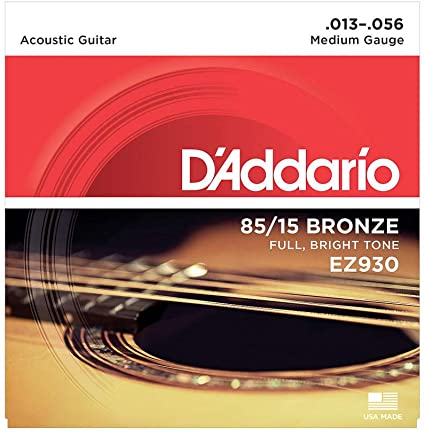 D'addario EZ930 85/15 Bronze Acoustic Guitar Strings 13-56 - Regent Sounds