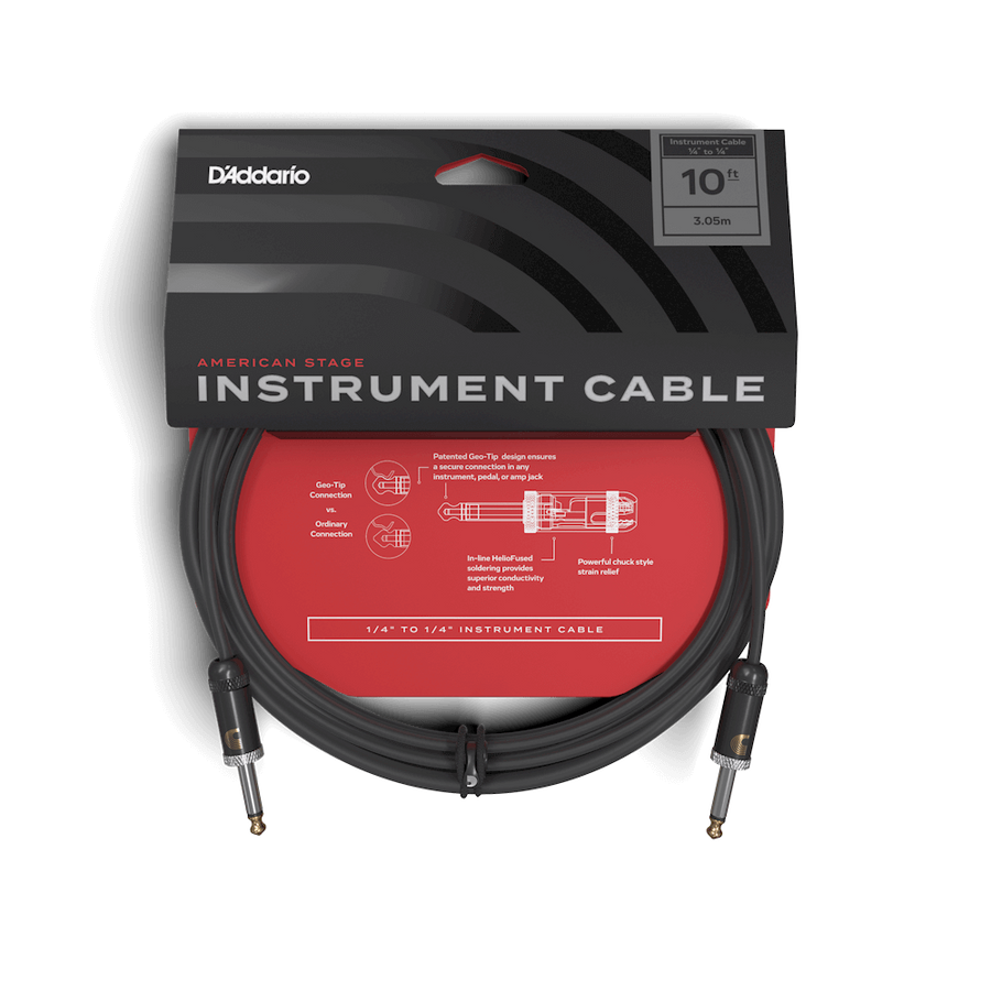 D'addario Planet Waves American Stage Cable 10ft - Regent Sounds