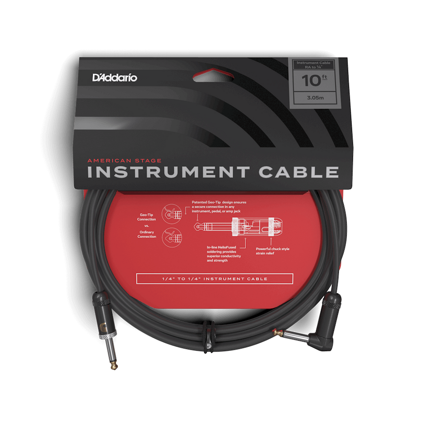 D'addario Planet Waves American Stage Cable RA 10ft - Regent Sounds