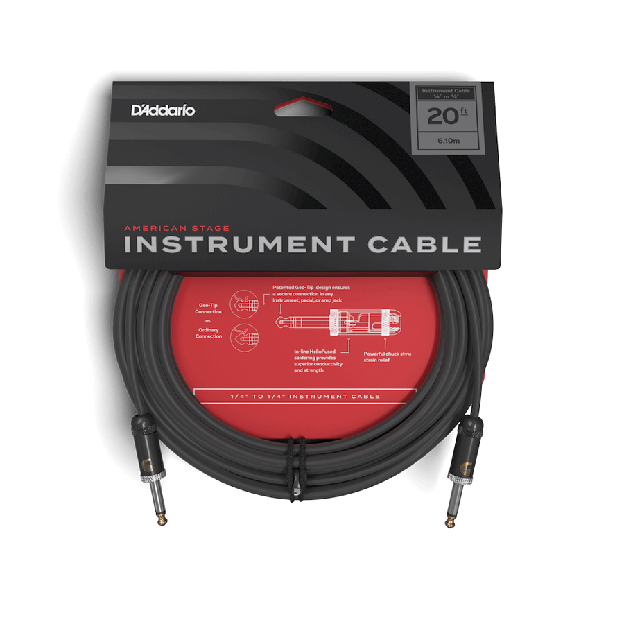 D'addario Planet Waves American Stage Cable 20ft - Regent Sounds