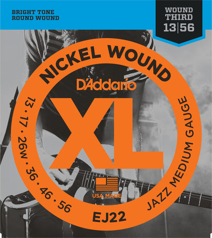 D'Addario EJ22 Jazz Medium 13-56 Electric Guitar Strings