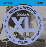 D'Addario EXL116 Electric Guitar Strings Med/Heavy 11-52 - Regent Sounds