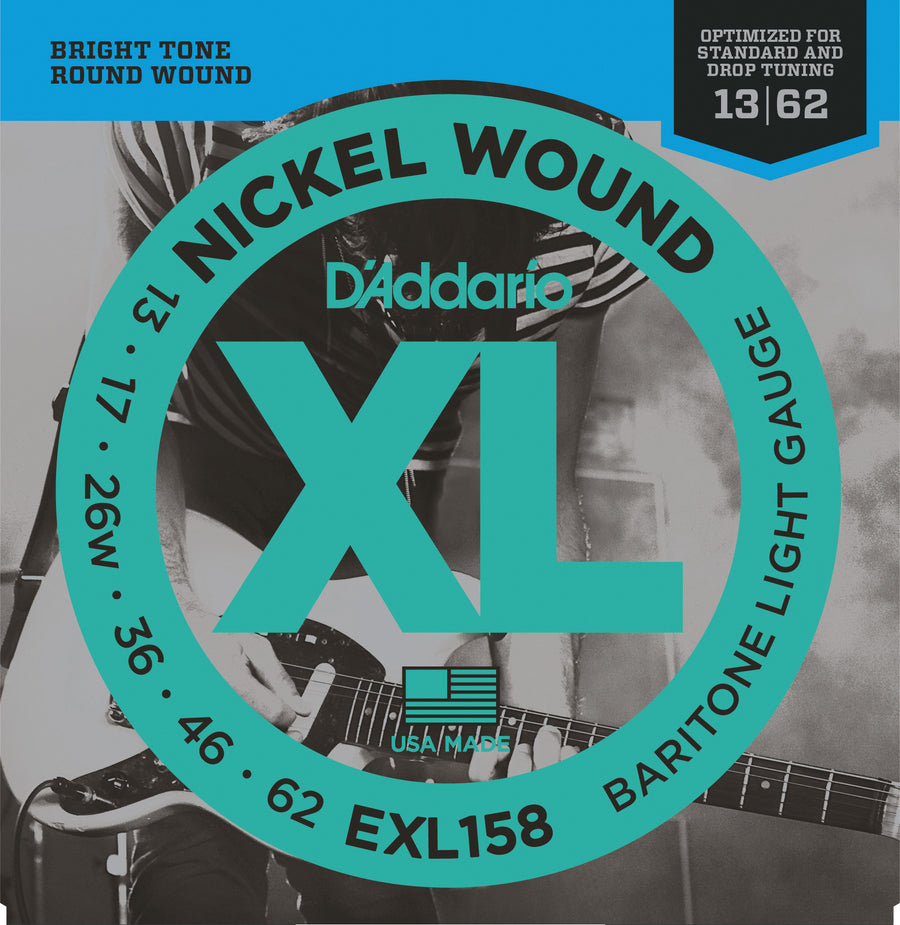 D'Addario EXL158 Baritone Light Gauge 13-62 - Regent Sounds