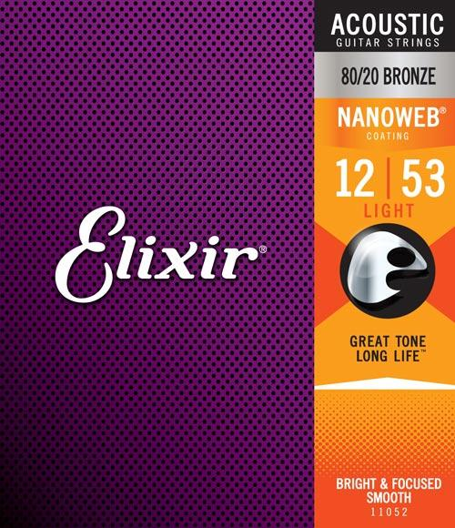Elixir Nanoweb Acoustic 80/20 Light 12-53 - Regent Sounds