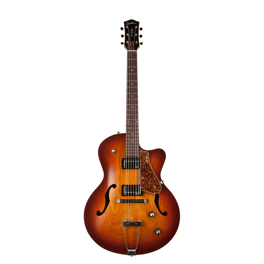 Godin 5th Avenue Kingpin CW Humbucker Cognac Burst - Regent Sounds