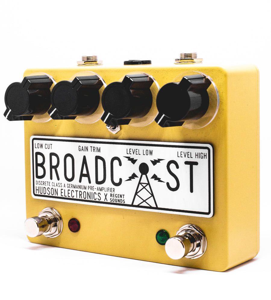 Hudson Electronics x Regent Sounds Broadcast Dual F/Switch Hi - Cut Toggle Ltd Ed Sand Yellow - Regent Sounds