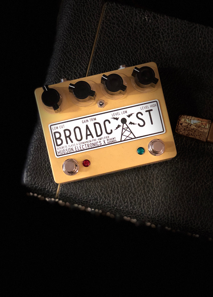 Hudson Electronics x Regent Sounds Broadcast Dual F/Switch Hi - Cut Toggle Ltd Sand Yellow - Regent Sounds