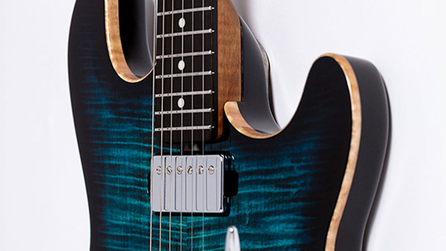 Music Man Sabre Guitar HH Deep Blue Roasted Ebony - Regent Sounds