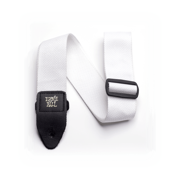 Ernie Ball Poly Strap White - Regent Sounds