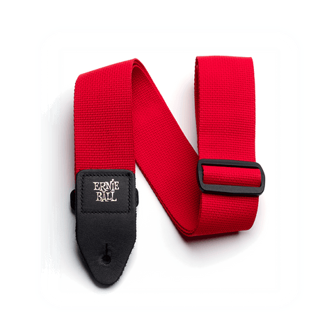Ernie Ball Poly Strap Red - Regent Sounds