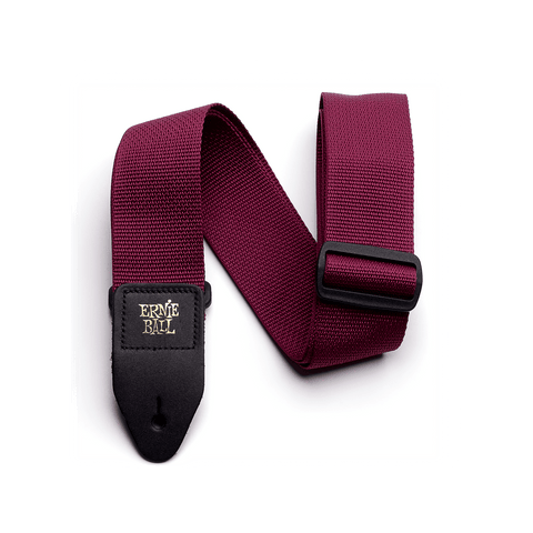 Ernie Ball Poly Strap Burgundy - Regent Sounds