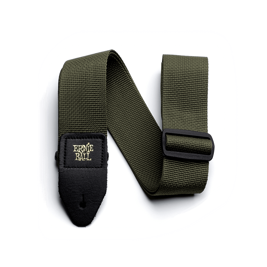 Ernie Ball Poly Strap Olive - Regent Sounds