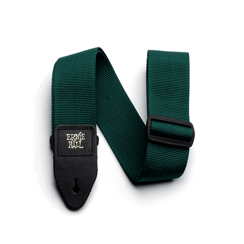 Ernie Ball Poly Strap Forest Green - Regent Sounds