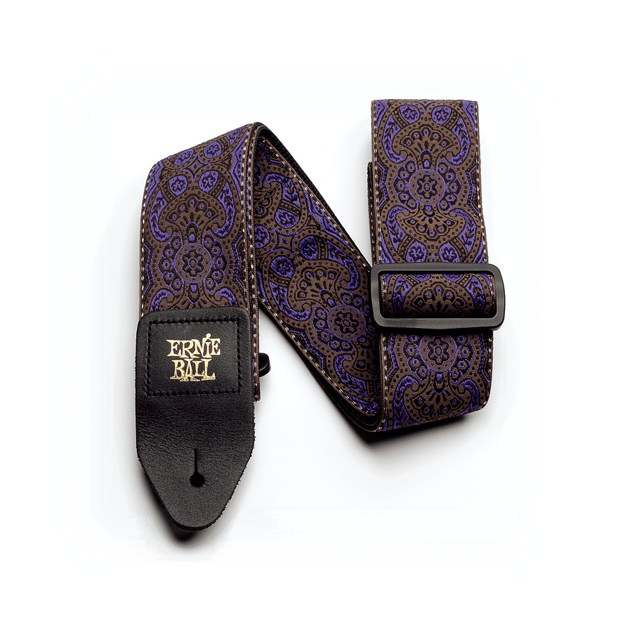 Ernie Ball Classic Jacquard Strap Purple Paisley - Regent Sounds