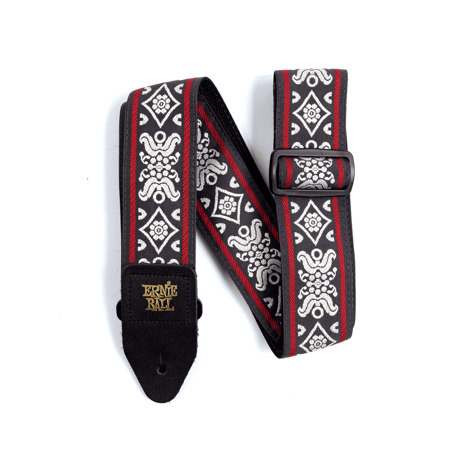 Ernie Ball Classic Jacquard Strap Blackjack Red - Regent Sounds