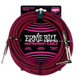 Ernie Ball 25ft Straight/Angle Braided Red - Regent Sounds