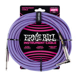 Ernie Ball 25ft Straight/Angle Braided Purple Blue - Regent Sounds