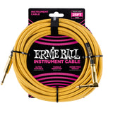 Ernie Ball 25ft Straight/Angle Braided Gold