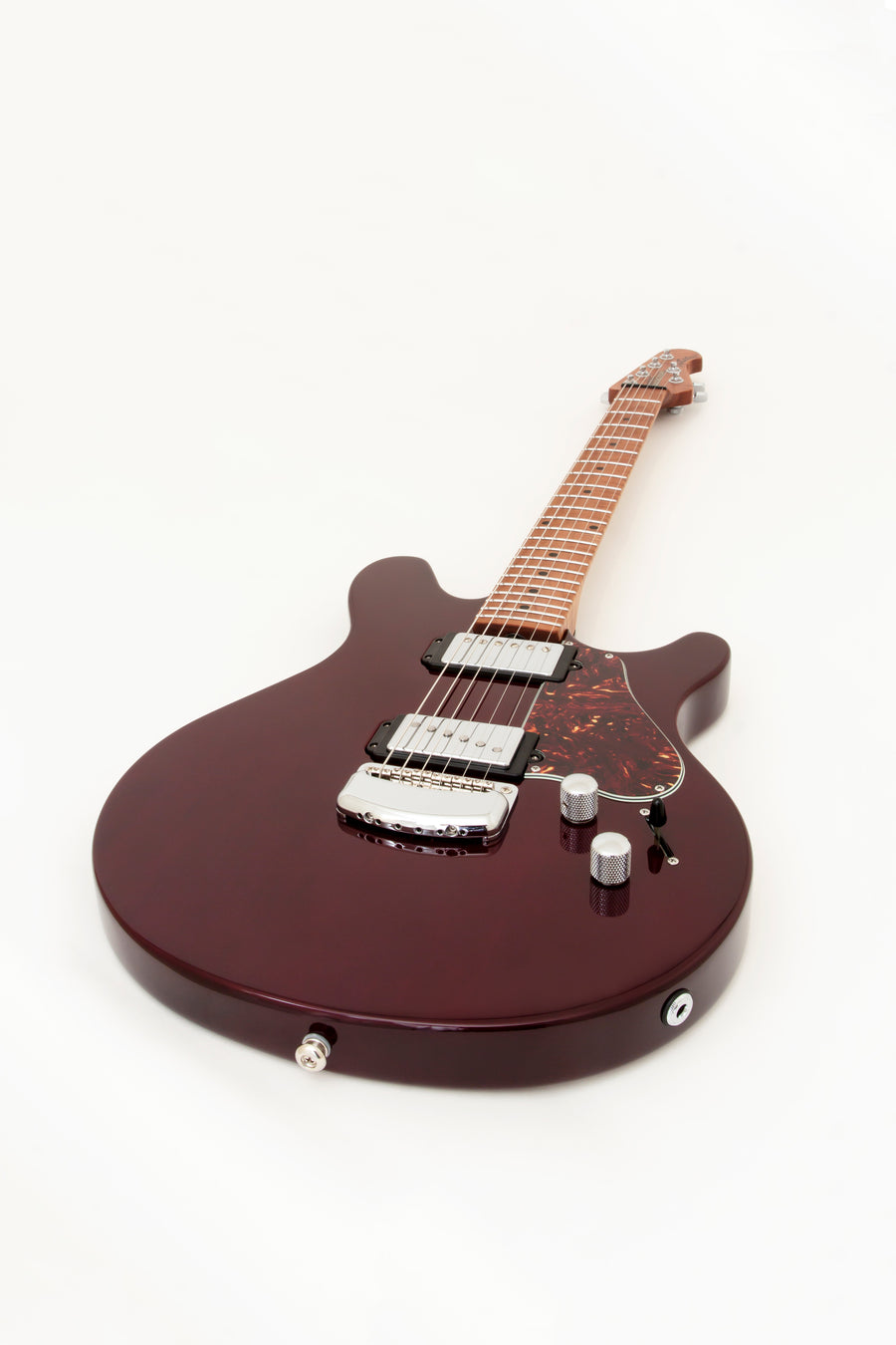 Music Man Valentine Trans Maroon Roasted Maple Neck - Regent Sounds