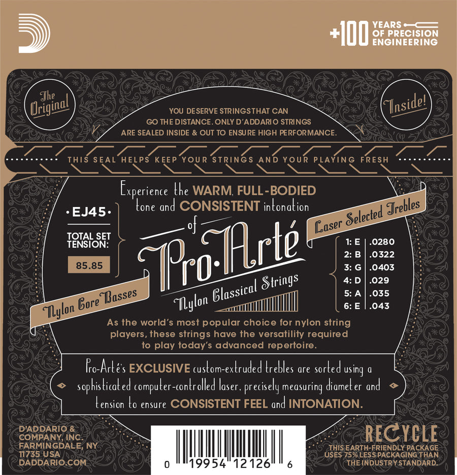 D'Addario EJ45 Pro Arte Classical Guitar Normal Tension - Regent Sounds