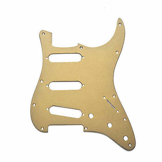 Fender pickguard for Stratocaster 11-hole Anodised Gold
