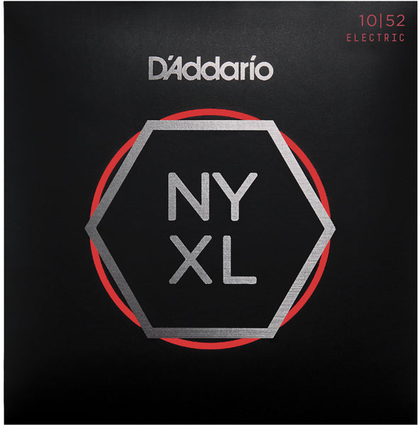 D'Addario NYXL1052 Nickel Wound Electric Guitar Strings 10-52 Light Top Heavy Bottom
