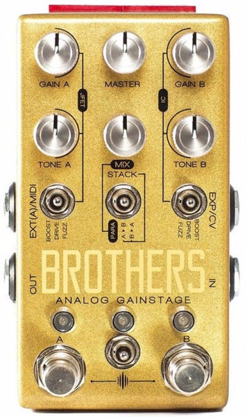 Chase Bliss Audio Brothers Analogue Gainstage Drive Pedal - Regent Sounds