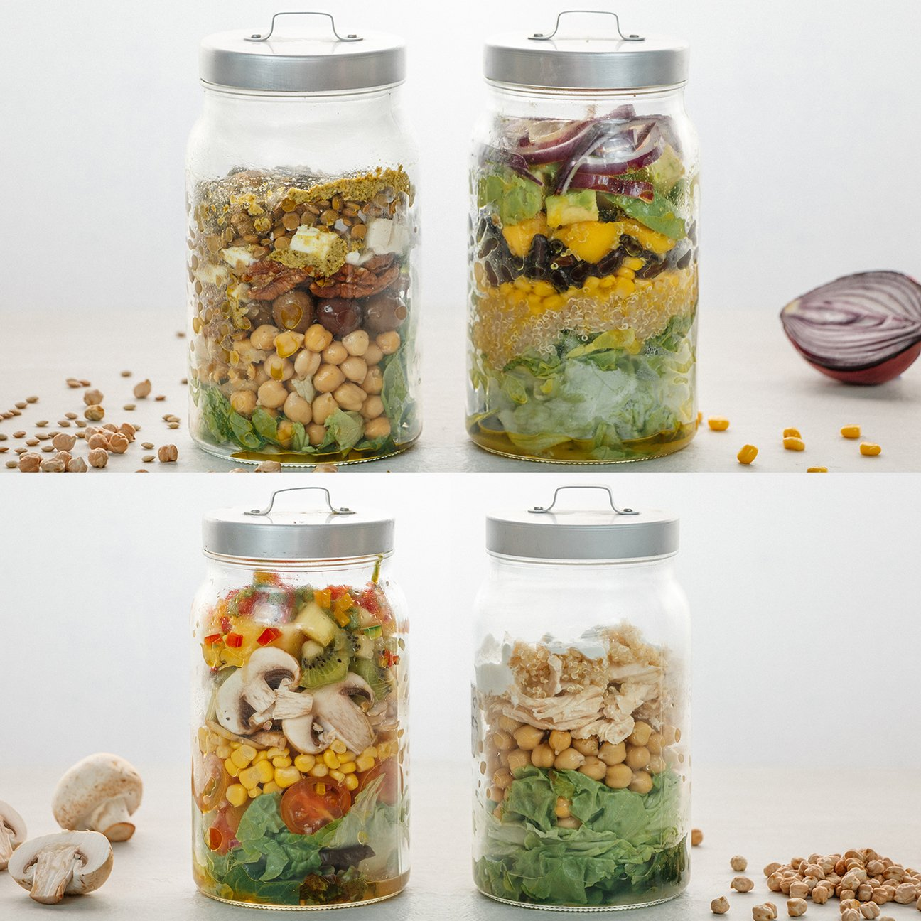 The Perfect Mason Jar Salads 4 Ways