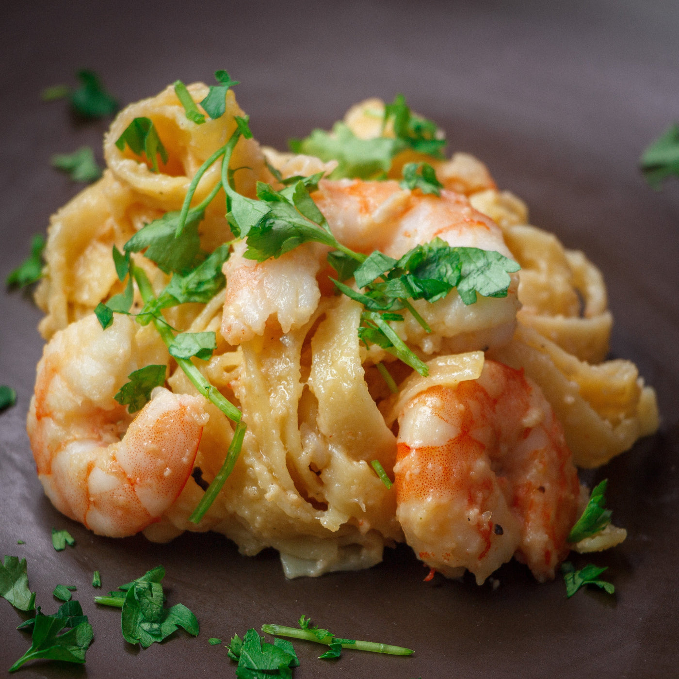 One Pot Creamy Garlic Shrimp Pasta