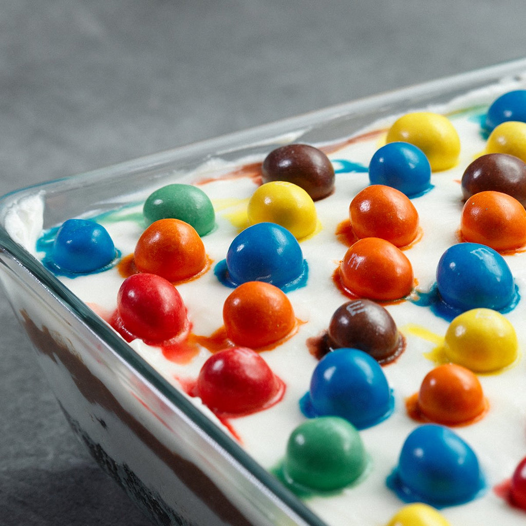 Chocolate M&M's Lasagna