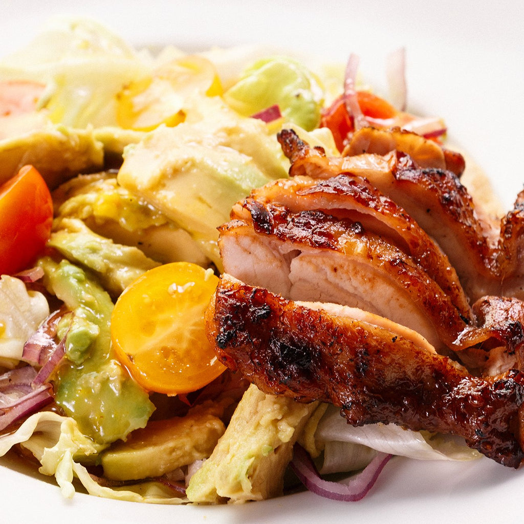 Honey Mustard Chicken And Avocado Salad