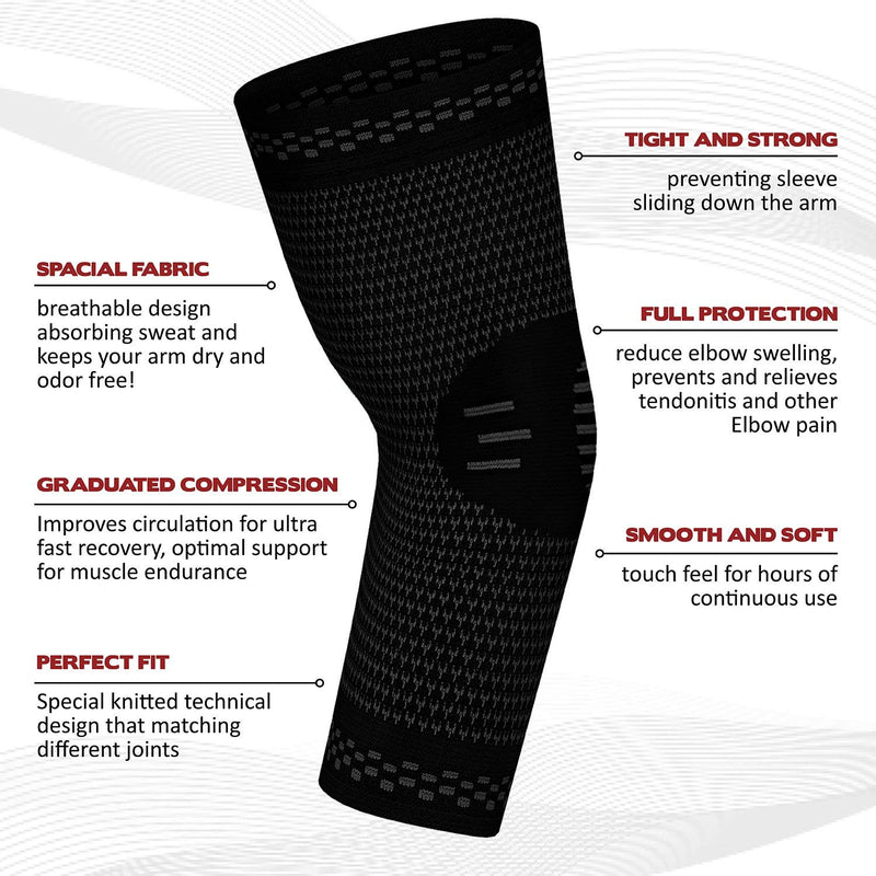 PowerLix™ - Elbow Brace Compression Support (PAIR) 2019 Designs