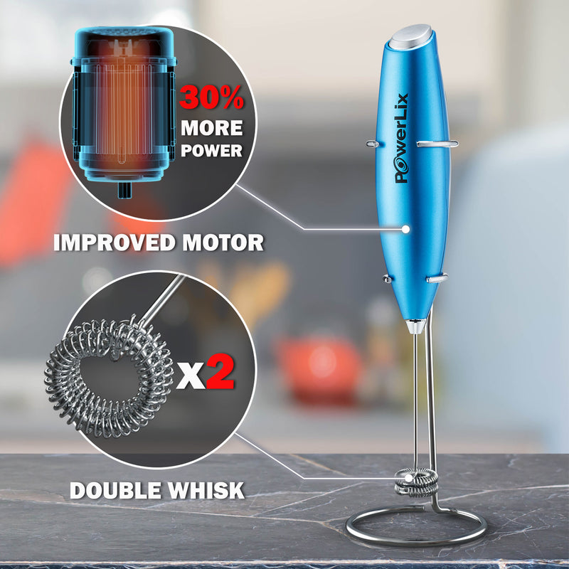PowerLix™ Milk Frother - New Double whisk