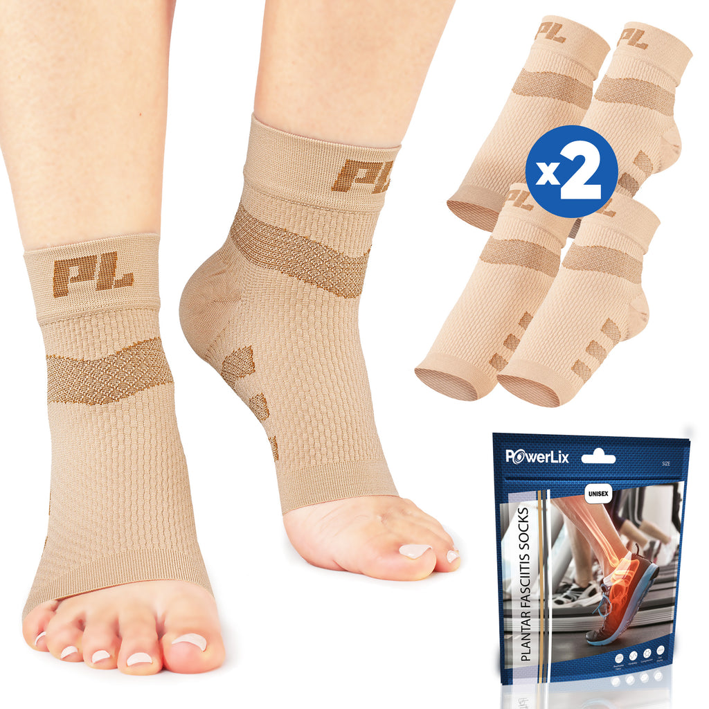 PowerLix™ Plantar Fasciitis Support Socks (2 Pairs)