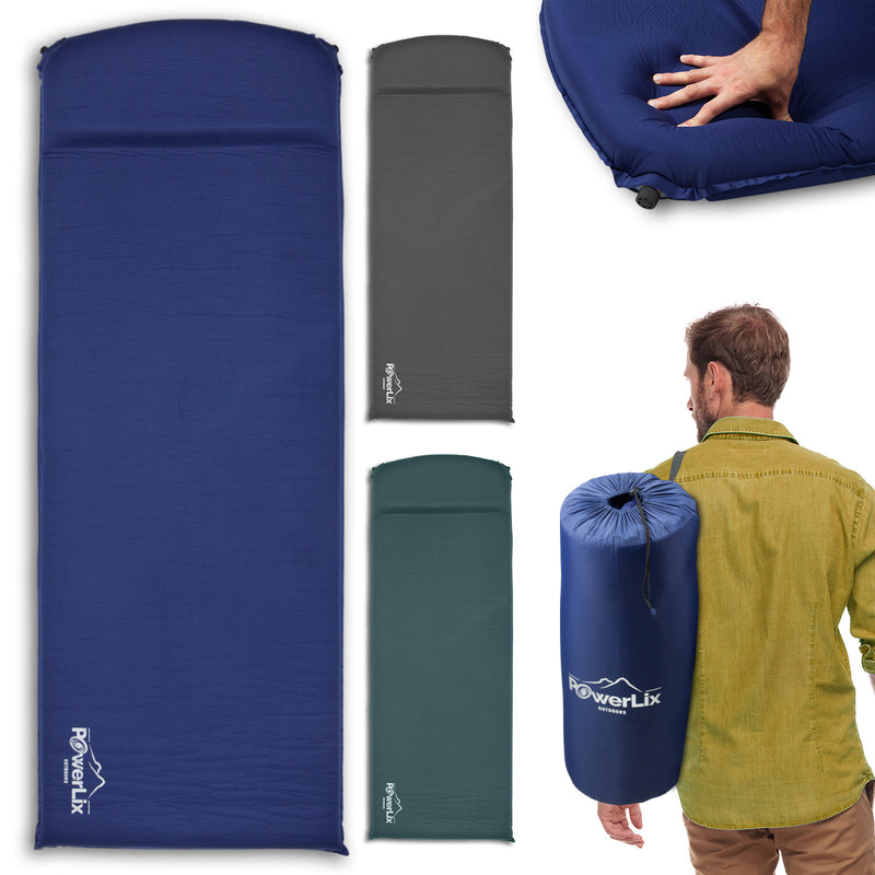 Powerlix™ Sleeping Pad - Self-Inflating Foam Pad