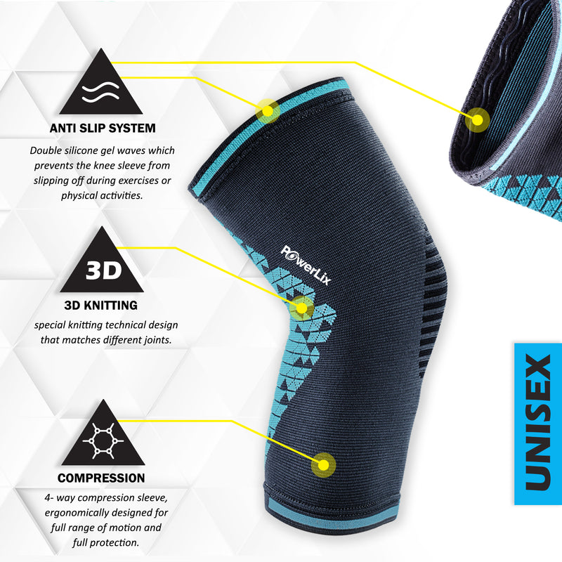 PowerLix™ - Compression Knee Sleeve New Design.
