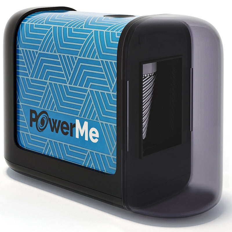 PowerLix PowerMe Electric Pencil Sharpener - Battery Operated (No Cord)