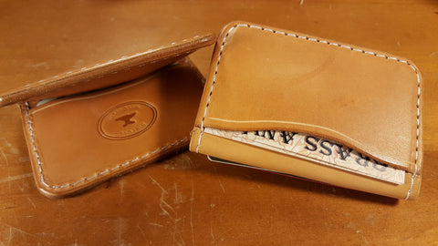 Four Horseman Pocket Wallet (oil tan) - Brass Anvil Leather
