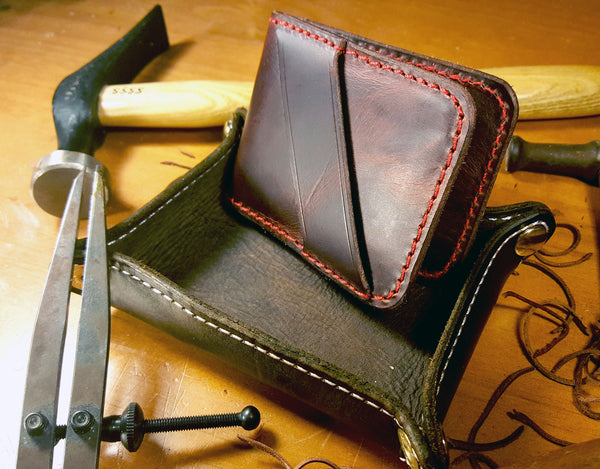 Cash Strap - Wallet - Brass Anvil Leather