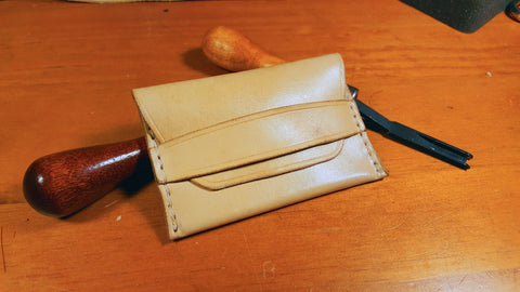 Wingman Wallet - Brass Anvil Leather