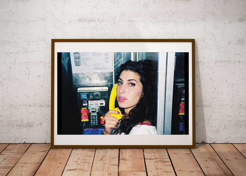 """NYC Phone booth""- Amy Winehouse 16x 20 C41 photographic archival print"