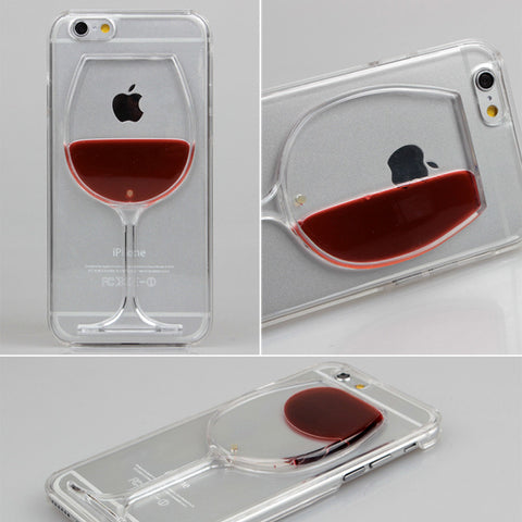 Liquid Quicksand Drink Clear Case For iPhones 5 5S 6 6S 6Plus 7 7Plus