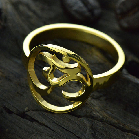 Bring You Peace And Calm Gift For Yoga Lover Gold Color Om Ring
